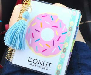 donut, school, and sweet image
