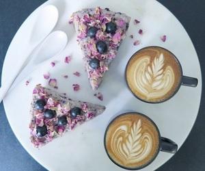 cheesecake, coffee, and tumblr food image