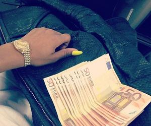 money, euro, and nails image