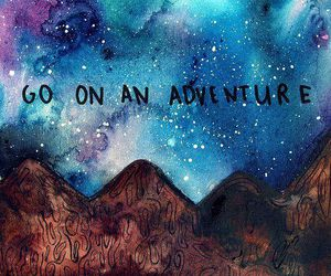 adventure, quote, and galaxy image