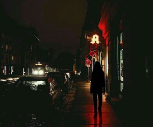 alone, girl, and night image