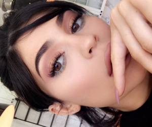 lips, style, and kylie jenner image