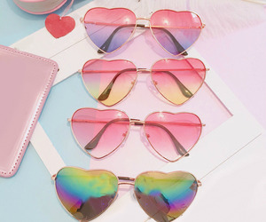 glasses, pink, and theme image