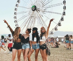 coachella, fashion, and friends image
