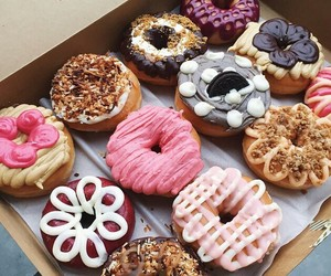 chocolate, donuts, and colors image
