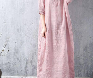 etsy, pink dress, and women clothing image