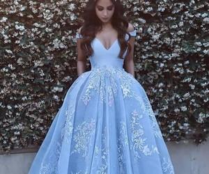 blue, dress, and princess image
