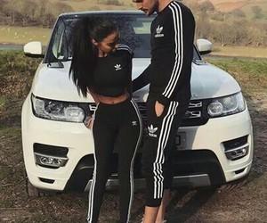 love, adidas, and couple image