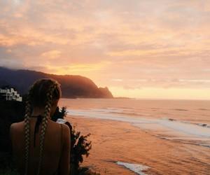 girl, landscape, and braids image