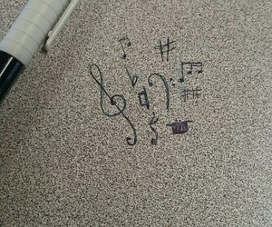 art, music, and notes image