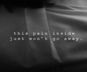 pain, sad, and quote image