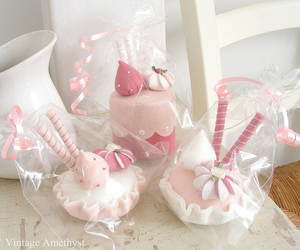 cakes, ice cream, and pink image