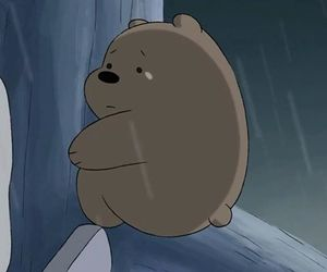 grizzly, we bare bears, and sad time image