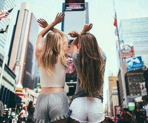 best friends, girl, and bff image