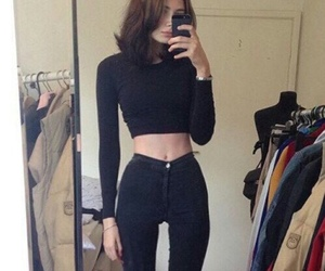 girl, thin, and bones image