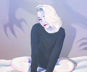 demon, digital art, and girl image