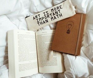 book, art, and math image