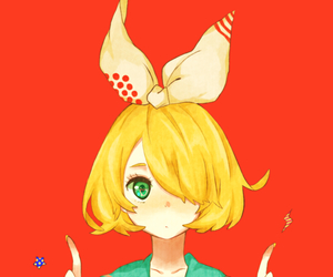 anime, vocaloid, and kagamine rin image