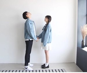 couple, dating, and kfashion image