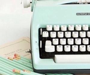 vintage, pastel, and typewriter image