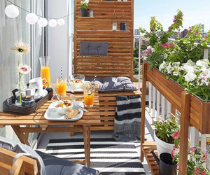 balcony, breakfast, and orange image