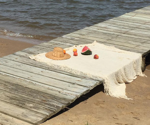 aesthetic, beach, and picnic image