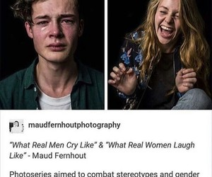 cry, laugh, and feminism image