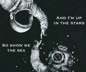 sea, space, and swimming image