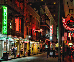 lights, new orleans, and night image
