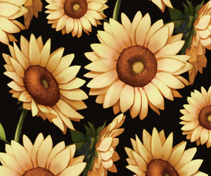 patterns and sunflowers image
