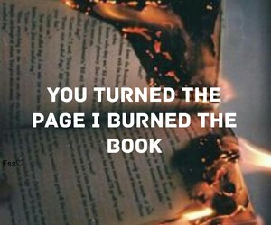 book, burn, and fire image