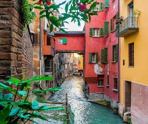 colorful, Houses, and nature image