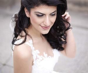 bridal, bride, and makeup image
