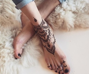 foot, summers, and tattoo image