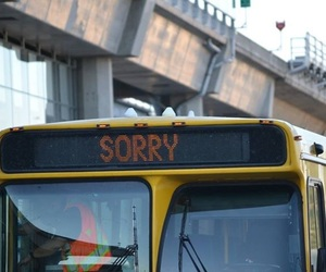 sorry, bus, and grunge image
