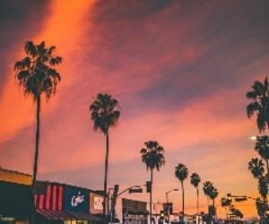 sunset, tumblr, and california image