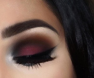 makeup, beauty, and red image