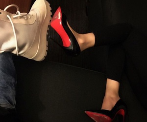 boots, heels, and louboutin image