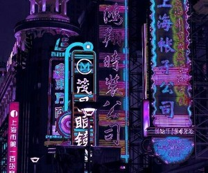 neon, city, and light image