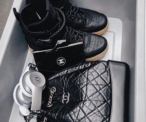 air force 1, bags, and beats image