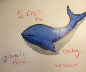 stop and blue whale game image