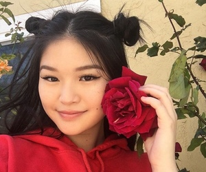 aesthetic, girl, and rose image