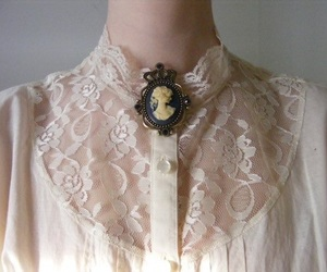 cameo, lace, and pink image