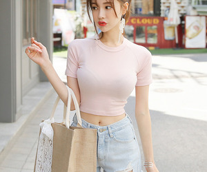 asian fashion, tee, and kstyle image