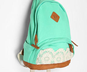 bag, backpack, and lace image