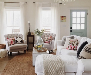 farmhouse, home decor, and living room image