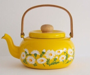 flowers, yellow, and tea image