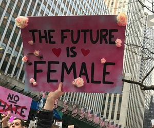 female, feminism, and feminist image