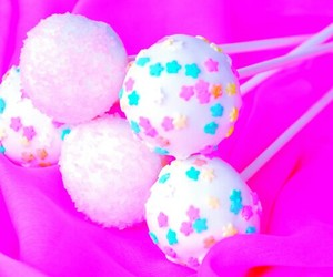 candy, lollipops, and pink image