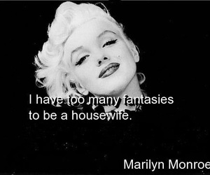 Marilyn Monroe, fantasy, and housewife image